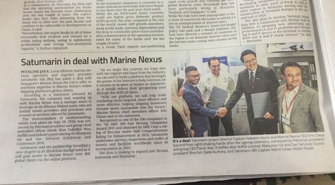 Satumarin in deal with Marine Nexus